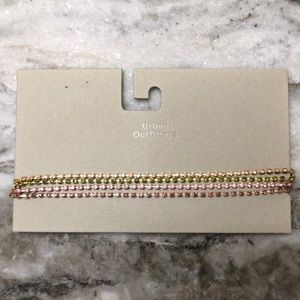 Urban Outfitters Laura Rhinestone Choker Necklace